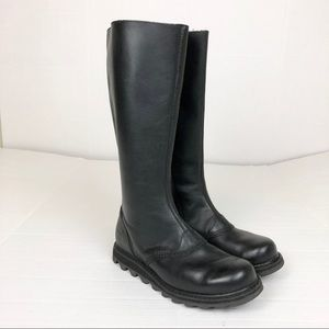 Sorel Scotia tall boots black leather size 6